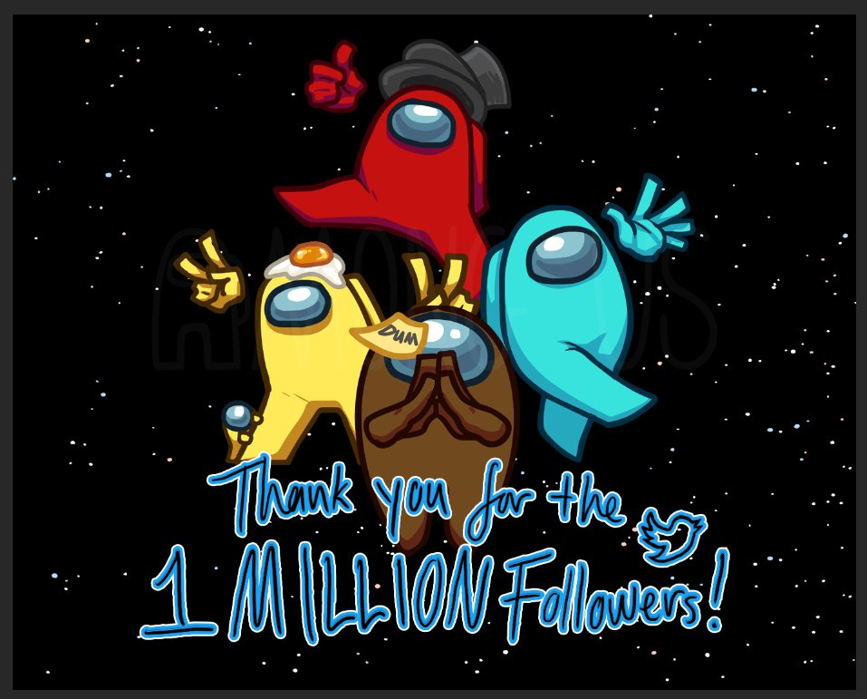 Among Us 公式Twitterアカウントが100万人のフォロワー獲得!