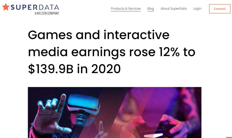 SuperData社が2020年のゲーム市場を最速分析。関連市場は12%増の1,399億ドルに